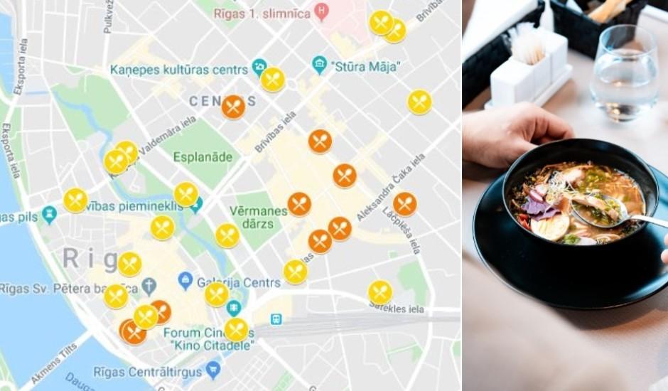 Maciņam draudzīgas pusdienas Rīgas centrā? Meklē labāko vietu kartē!