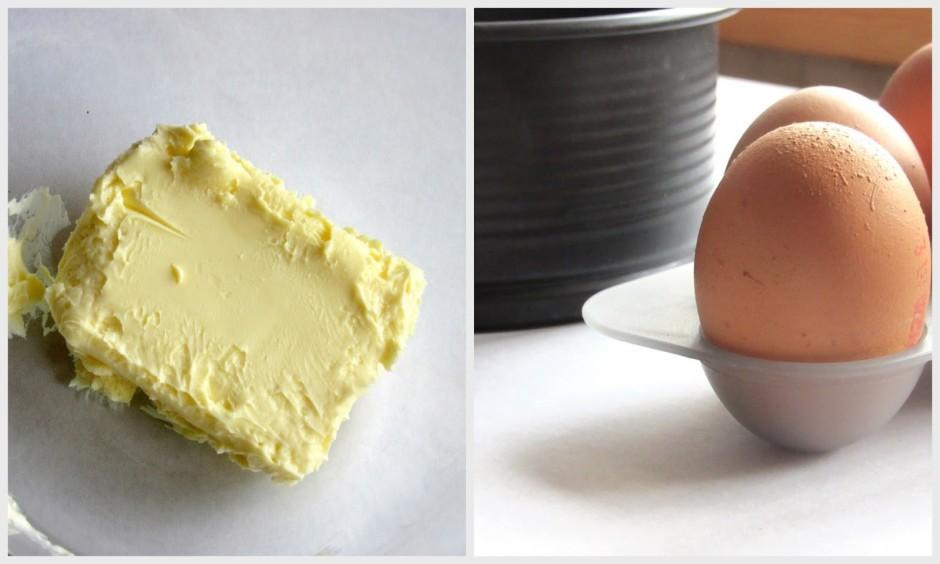 Biskvītam paredzētais sviests un olas laicīgi jāizņem no led...