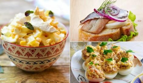 Daudzveidīgām brokastīm:  receptes ar vārītām olām
