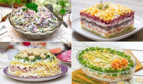 Iecienītāko salātu recepšu izlase svētku svinībām