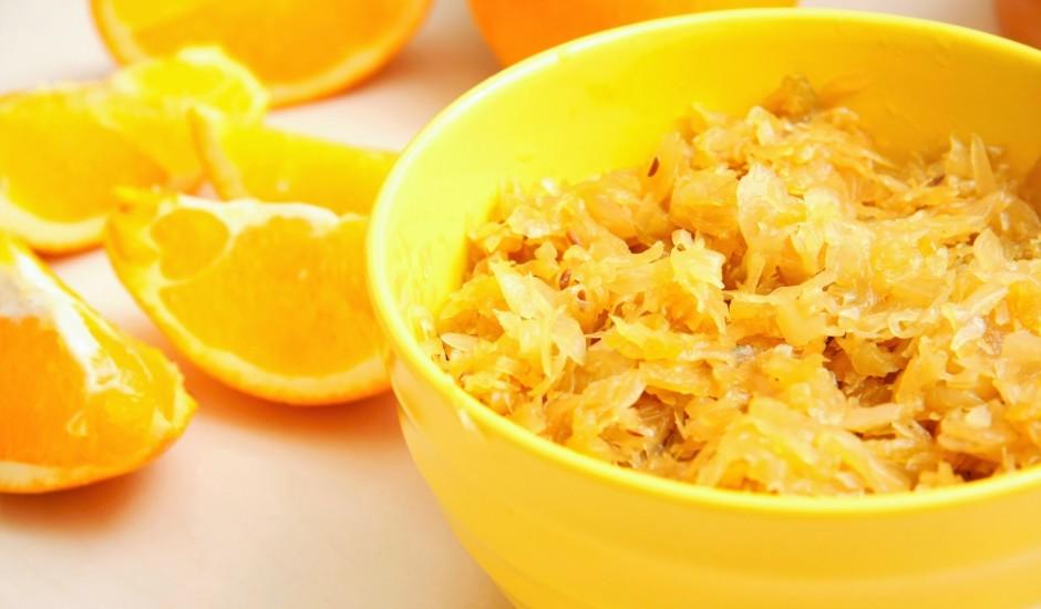 Apelsīnu sulā sautēti kāposti