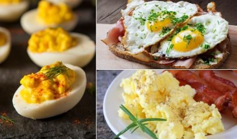 Izcilām brokastīm: daudzveidīgi olu pagatavošanas veidi