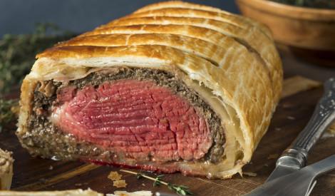 Liellopa gaļa Velingtona gaumē