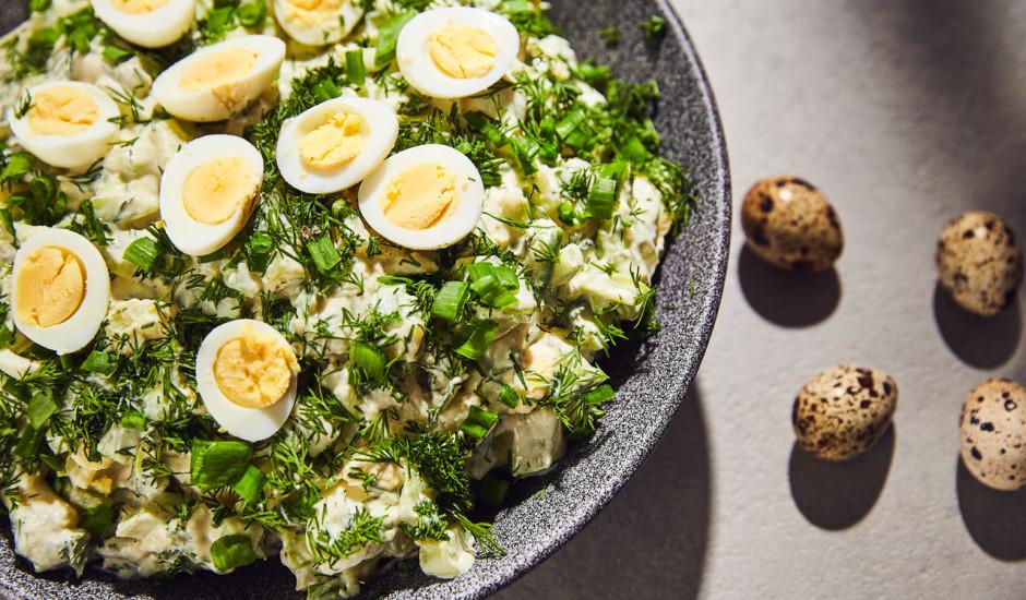Pavasarīgie Lieldienu kartupeļu salāti