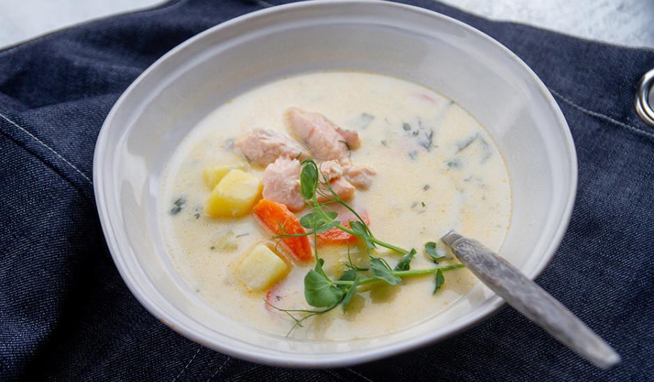 Laša zupa ar sieru