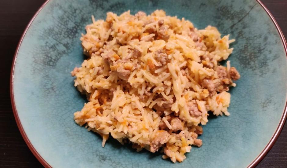 Rīsi ar cūkgaļu saldajā krējumā