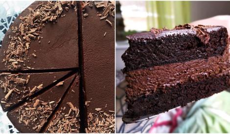 Slapjā šokolādes kūka