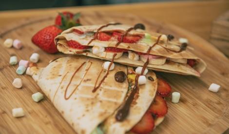 Saldie tortilju trijstūri Māras Upmanes-Holšteines gaumē
