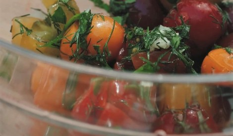 Marinēti ķiršu tomātiņi