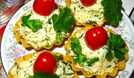 Siera salāti ar zaļumiem