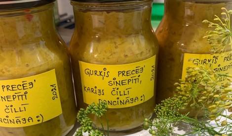 Gurķu - sinepju salāti - garšo labāk nekā veikalā pirktie