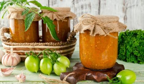 Zaļu tomātu un kabaču ikri bez pasterizēšanas