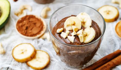 Avokado - banānu - kakao pudiņš